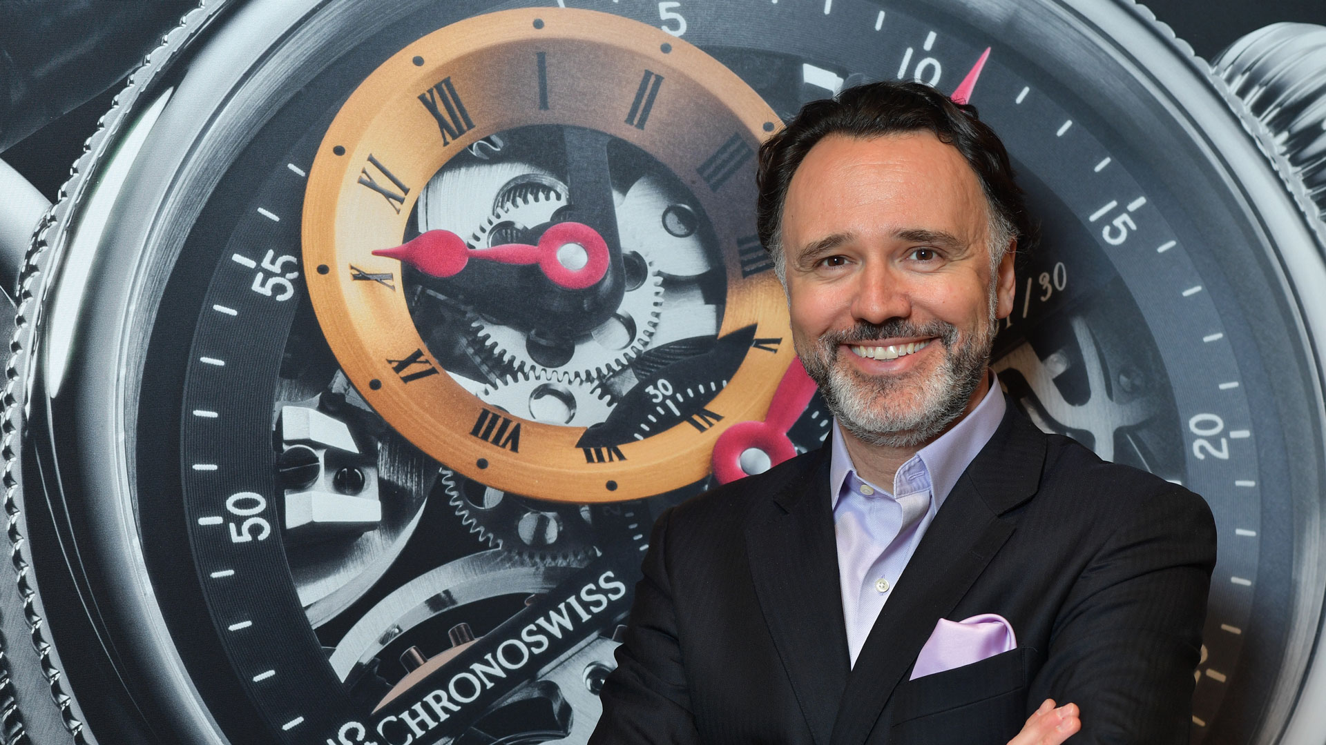 Portrait of Chronoswiss CEO Oliver Ebstein
