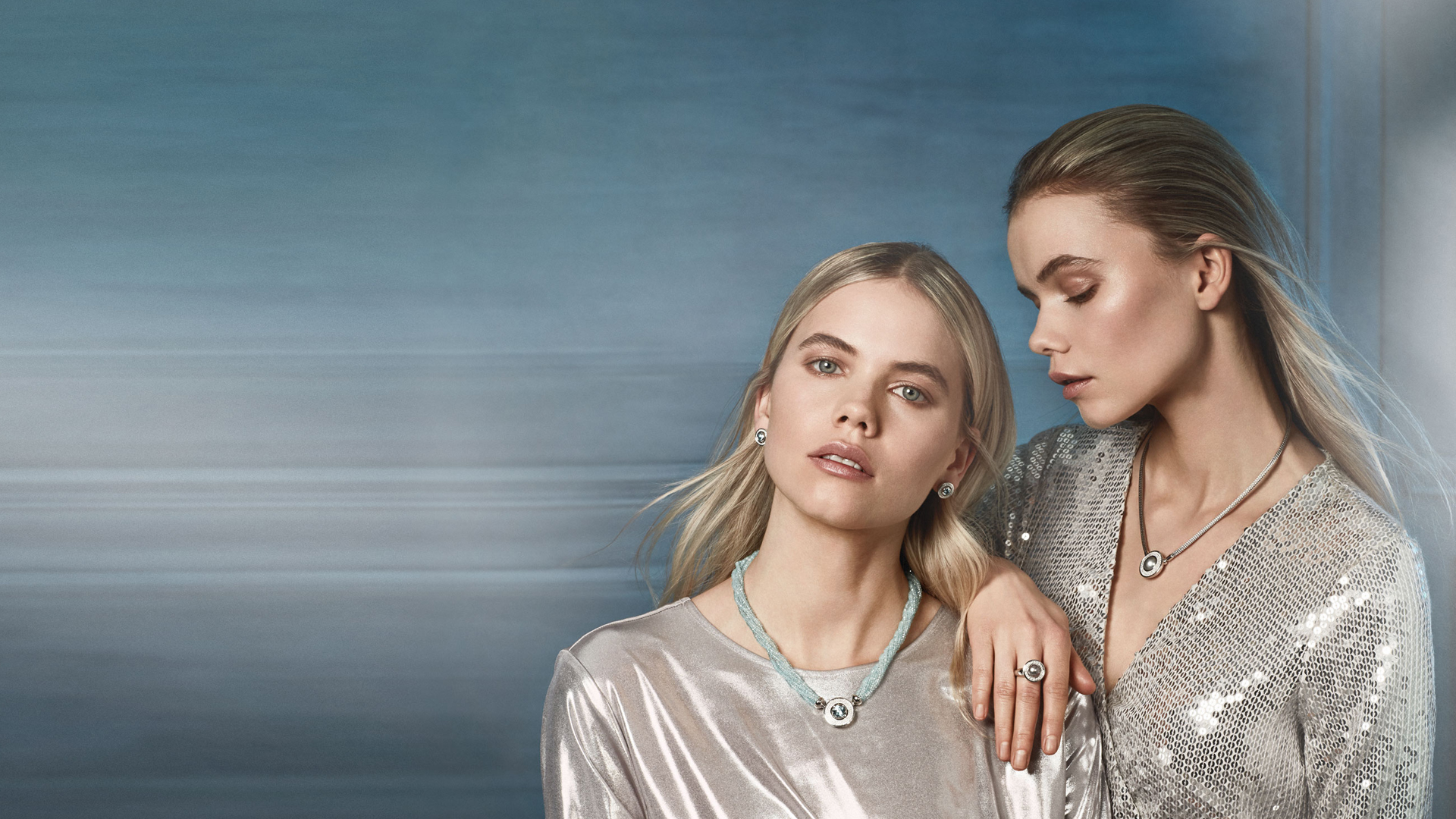 2 models wearing jewellery from Joerg Heinz